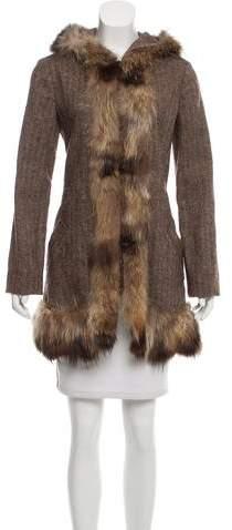Marni Fur-Trimmed Wool Coat