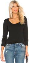 Bobi Vintage Long Sleeve Tee in Black. - size L (also in M,S,XS)