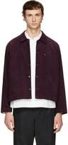 Undecorated Man Burgundy Corduroy Jacket