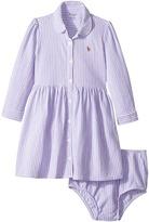Ralph Lauren Striped Knit Oxford Dress Girl's Dress