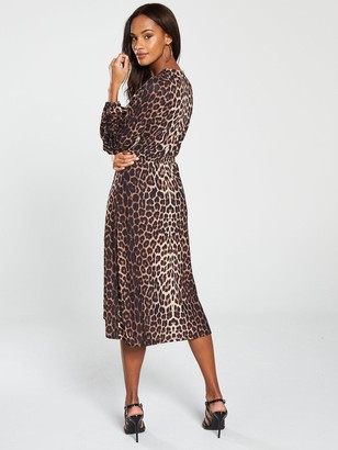 Very Wrap Dress - Animal Print
