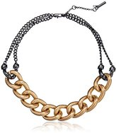 """Kenneth Cole New York Merlot"""" Gold Link Necklace"""