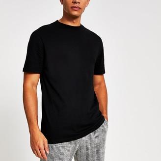 River Island Black regular fit short sleeve T-shirt