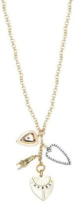 Dannijo Patrice Crystal-Embellished Charm Necklace