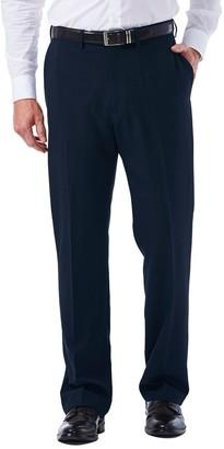 Haggar Big & Tall eCLo Tonal Plaid Classic-Fit Flat-Front Dress Pants