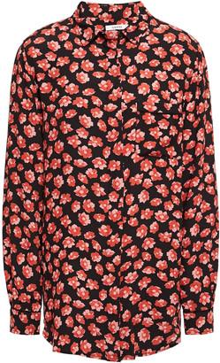 Ganni Lindale Printed Crepe De Chine Shirt