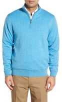 Bobby Jones Men's Windproof Merino Wool Quarter Zip Sweater