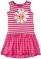 Design History Daisy Sequins Trim Dress (Toddler/Kid) - Mod Pink-4