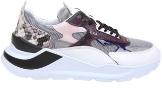 D.A.T.E Fabric Leather Sneakers