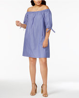 Love Squared Trendy Plus Size Off-The-Shoulder Shift Dress