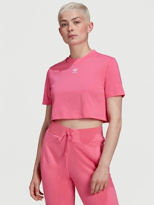 adidas Trefoil Cropped T-Shirt - Pink