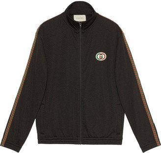 Gucci Oversized Mesh Logo Jacket