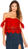 Astr Adela Top in Red. - size L (also in M,S,XS)