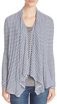 Three Dots Draped Stripe Cardigan - 100% Exclusive