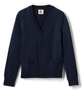 Classic Boys Performance Button Front Cardigan Sweater Navy
