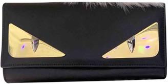 Fendi Black Leather Wallets