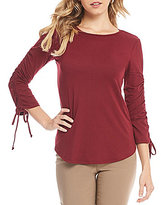 Westbound Rouched Tie Sleeve Blouse