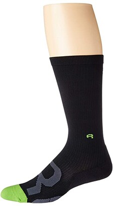 2XU Recovery Compression Socks (Black/Grey) Crew Cut Socks Shoes