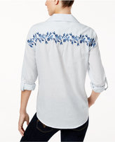 Style&Co. Style & Co Vineyard Coast Cotton Embroidered Shirt, Created for Macy's