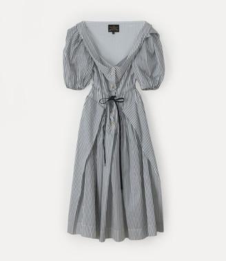 Vivienne Westwood New Short Sleeve Saturday Dress White/Navy
