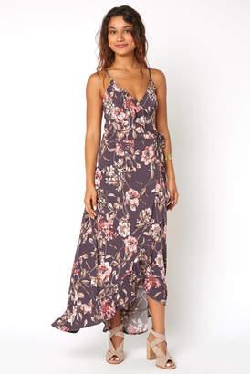 Abbeline Floral Long Wrap Maxi Dress Multi L
