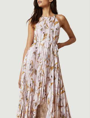 Ted Baker Dixxie Cabana floral-print pleated woven maxi dress