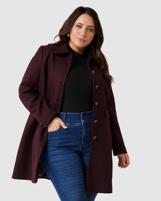 Forever New Curve - Women's Red Coats - Emily Curve Dolly Coat - Size One Size, 18 at The Iconic