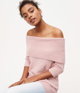 LOFT Petite Ribbed Off The Shoulder Sweater