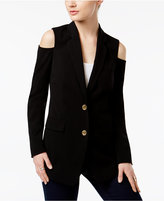 MICHAEL Michael Kors Cold-Shoulder Blazer