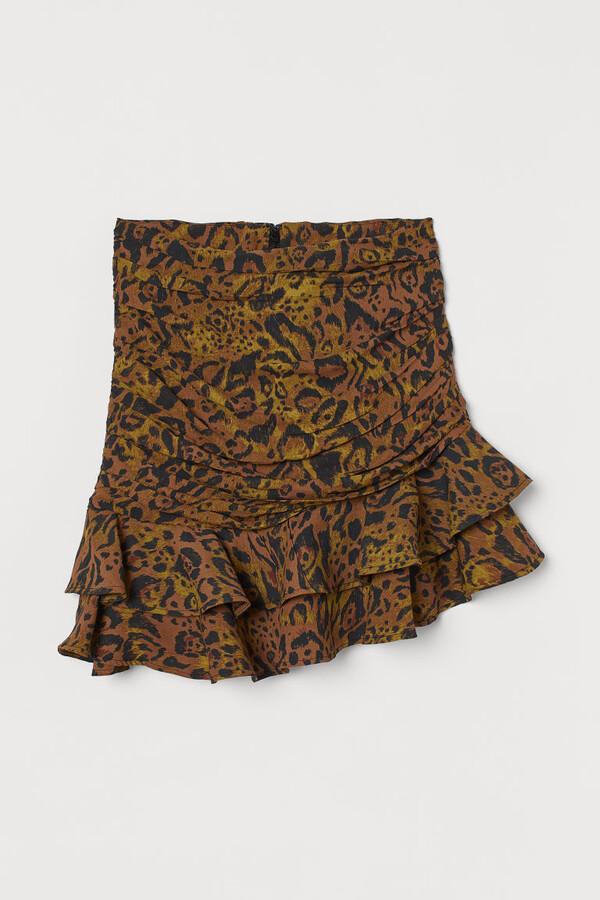 H&M Draped Skirt - Beige