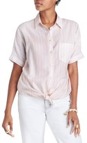 Madewell Women's Stripe Tie Front Blouse