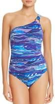 Lauren Ralph Lauren Calypso One Shoulder One Piece Swimsuit