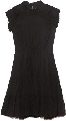 Sea Nadja Flutter Sleeve Dress in Black