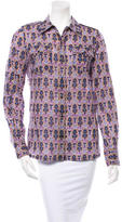 Tory Burch Printed Button-Up
