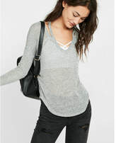 Express one eleven slash neck tee