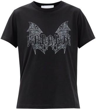 Rodarte X Jess Rotter Gothic-print Jersey T-shirt - Black