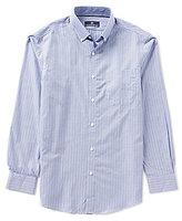 Hart Schaffner Marx Houndstooth/Striped Long-Sleeve Woven Shirt