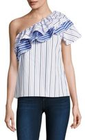 Parker Mary Top Multi Striped Top