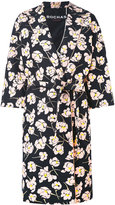 Rochas floral print midi coat - women - Cotton/Silk/Viscose - 42