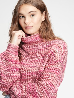 Gap Space-Dye Mockneck Sweater