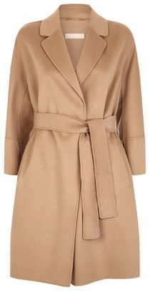 Max Mara Arona Short Wool Wrap Coat