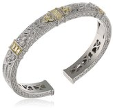 Judith Ripka Estate Three Baguette Yellow Cuff Bracelet