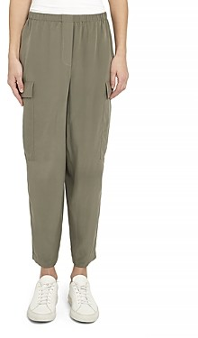 Theory Sandwash Silk Cargo Pants