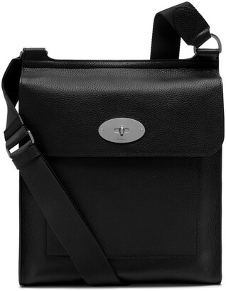 Mulberry Antony Messenger Black Natural Grain Leather