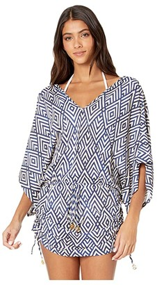 Luli Fama Mesmerized Cabana V-Neck Dress Cover-Up