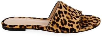 Gianvito Rossi leopard slide sandals