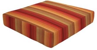 """Eddie Bauer Knife Edge Indoor/Outdoor Sunbrella Ottoman Cushion Size: 5"""" H x 23"""" W x 20"""" D"""