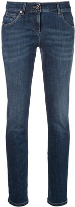 Brunello Cucinelli High Waisted Skinny Denim Jeans