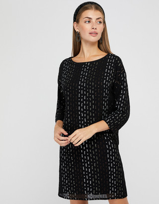 Monsoon Yara Sequin Dolman Sleeve Tunic Dress