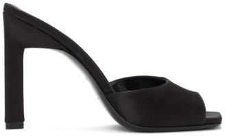 ATTICO Black Satin Mules